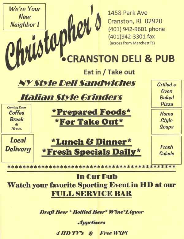 Christopher's Deli and Pub